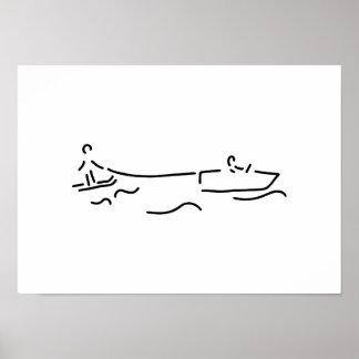 water ski boot waterski poster
