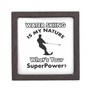 water ski Design Premium Keepsake Box