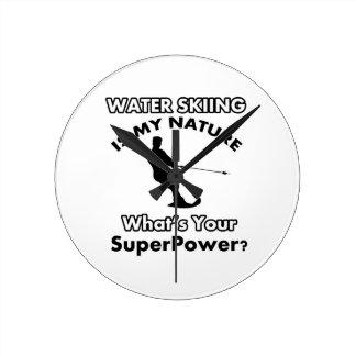 water ski Design Round Clock
