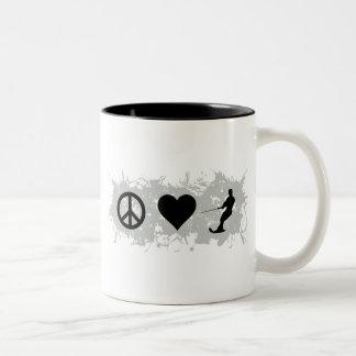 Water ski guy Two-Tone coffee mug