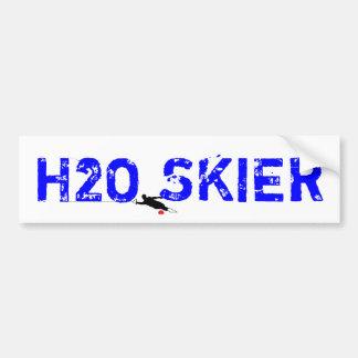 """Water Ski """"H2O SKIER"""" Bumper Sticker Car Bumper Sticker"""