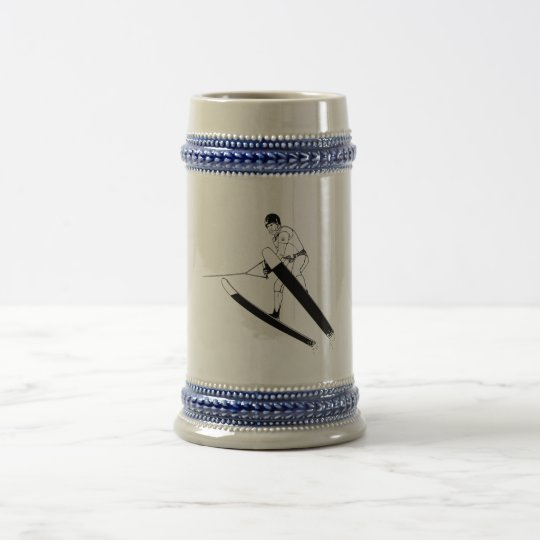 Water Ski Jumper Beer Stein