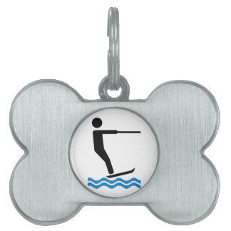 Water ski pet tag