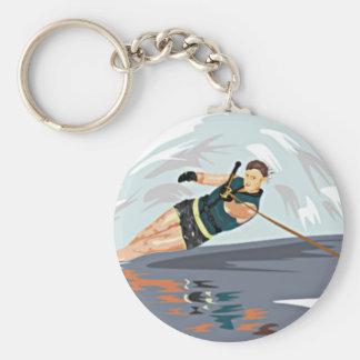 Water Ski Print Keychain
