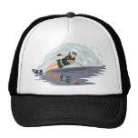 Water Ski Print Mesh Hat