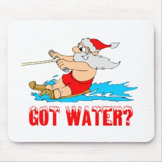 Water Ski Santa Mouse Pad