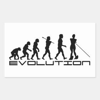 Water Ski Waterski Sport Evolution Art Rectangular Sticker