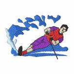 Water-skier Embroidered Hoodies