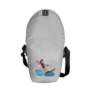Water-Skier-Girl 1 Courier Bags