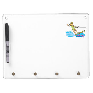 Water-Skier-Girl 2 Dry Erase Board With Keychain Holder