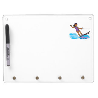 Water-Skier-Girl 3 Dry Erase Board With Keychain Holder