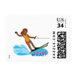 Water-Skier-Girl 4 Stamps