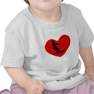 Water Skier Heart T-shirts