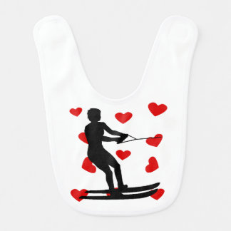 Water Skier Hearts Bib