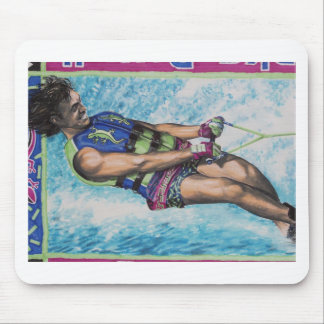 Water Skier Mouse Pad
