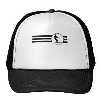 Water Skier Stripes Trucker Hat