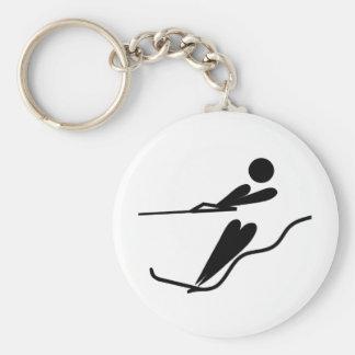 Water Skier - Water Ski Basic Round Button Keychain