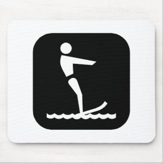 Water Skiing (Blk) Mouse Pad