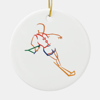 Water Skiing Ceramic Ornament