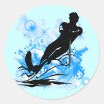 Water Skiing Classic Round Sticker