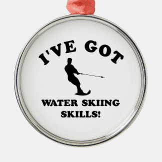 Water Skiing designs and gift items Metal Ornament
