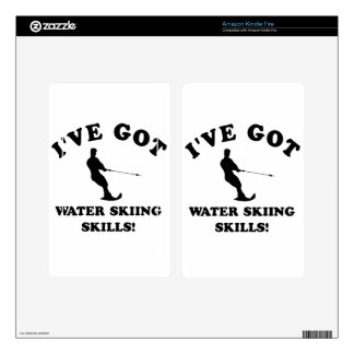 Water Skiing designs and gift items Skin For Kindle Fire