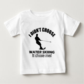 water skiing designs baby T-Shirt