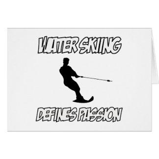 WATER SKIING designs Card