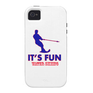 water skiing designs iPhone 4 cases
