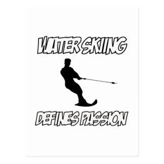 WATER SKIING designs Postcard