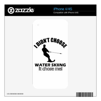 water skiing designs decals for iPhone 4