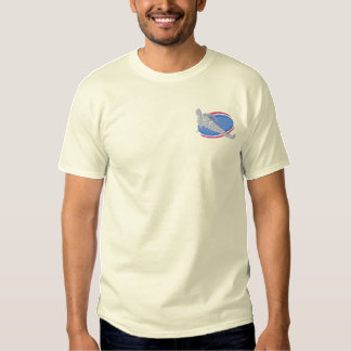 Water-skiing Embroidered T-Shirt