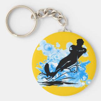 Water Skiing Keychain