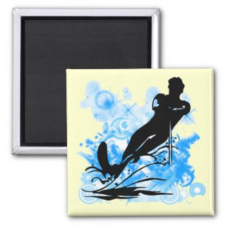 Water Skiing magnet