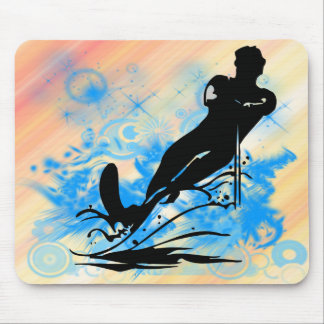 Water Skiing Mouse Pad