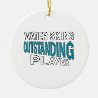 WATER SKIING OUTSTANDING PLAYER CERAMIC ORNAMENT