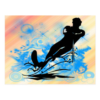 Water Skiing Post Card