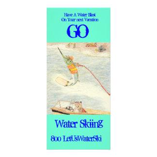 Water Skiing Custom Rack Card