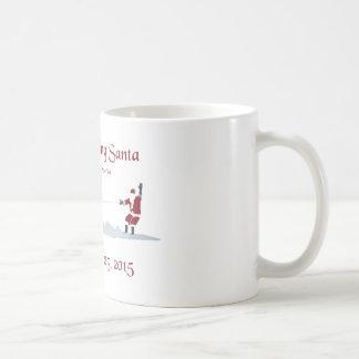 Water Skiing Santa Claus Coffee - Chautauqua Lake Coffee Mug