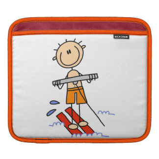Water Skiing Stick Figure Sleeves For iPads