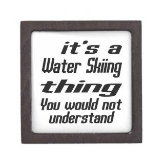 Water Skiing Thing Designs Premium Trinket Box