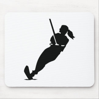 Water skiing woman mouse pad
