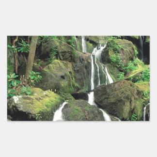 Water Smoky Mountains Tennessee Stream Rectangular Sticker