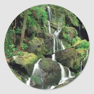 Water Smoky Mountains Tennessee Stream Classic Round Sticker