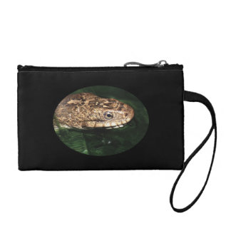 Water snake in emerald water change purse