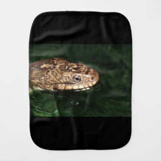 Water snake with reflection baby burp cloth