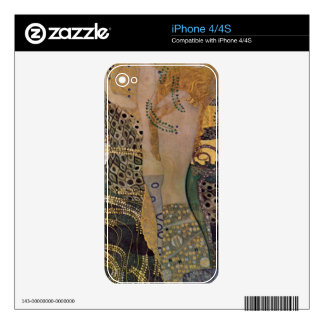 Water snakes (friends) I by Gustav Klimt iPhone 4S Decals