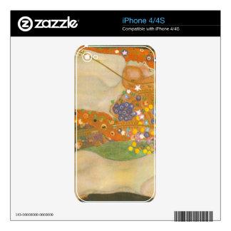 Water snakes (friends) II by Gustav Klimt iPhone 4 Decals