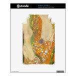 Water snakes (friends) II by Gustav Klimt Skin For Kindle