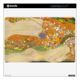 Water snakes (friends) II by Gustav Klimt Skins For The MacBook